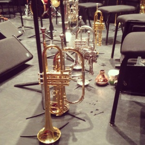 Trumpets on Stage