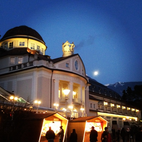 The moon rising over the Italian Alps before a Boston Brass performance in Merano, Italy. © 2012 Andrew Hitz